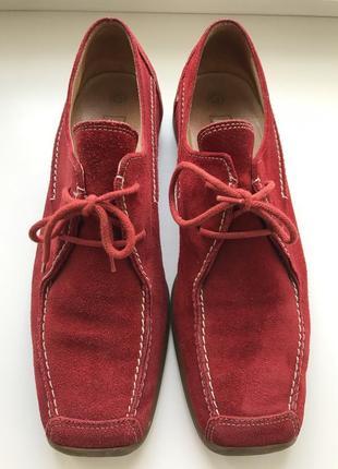 Замшевые мокасины, туфли gabor