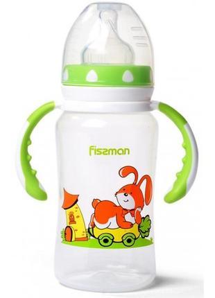 """Бутылочка детская для кормления Fissman Babies """"Зайчик на колесах"""