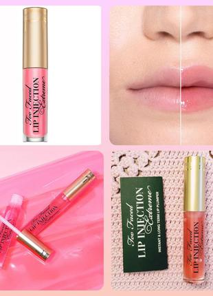Too faced lip injection extreme bubblegum yum блеск бальзам дл...