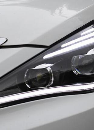 Передние фары Hyundai Sonata YF (09-14) тюнинг Led оптика (линза