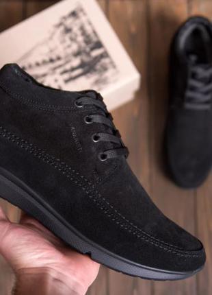 Мужские  зимние кожаные ботинки натуральной замши VanKristі
