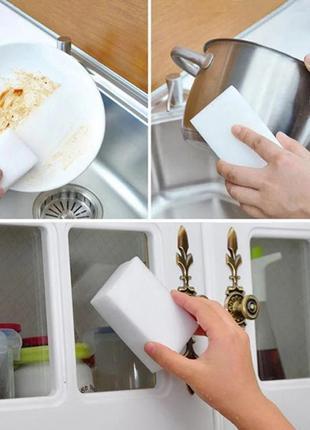 100 штук Меламиновая губка чистит без моющего белая 100*60*20 мм