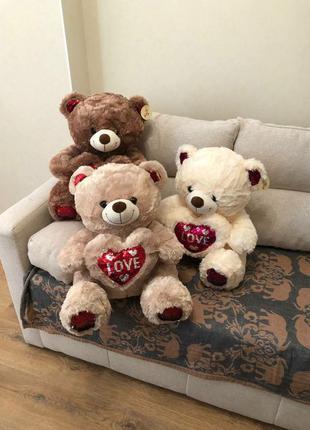 Плюшевый мишка, мягкая игрушка,мягкий мишка, большой медведь.