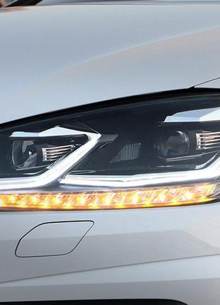 Передние фары VW Golf 7.5 (17-19) тюнинг Led оптика