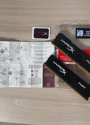 Модуль памяти HyperX DDR4 16GB 3466MHz Fury HX434C16FB3K2/16