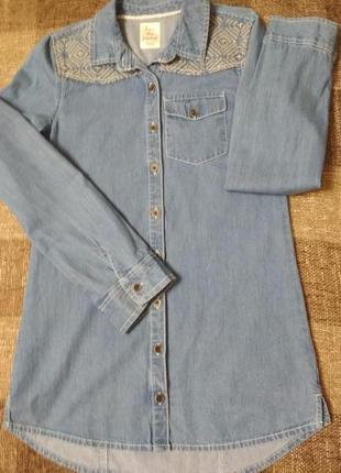 Рубашка, рубашка джинсовая