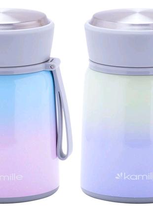 Термос пищевой Kamille - 530 мл с ложкой