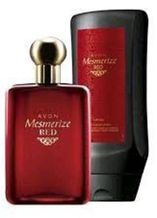 Avon мужской набор Mesmerize red ейвон эйвон
