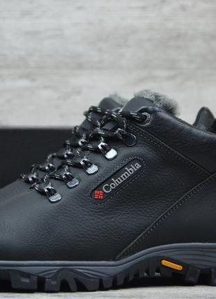 Мужские кожаные зимние кроссовки