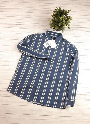 Рубашка мужская джинсовая bershka