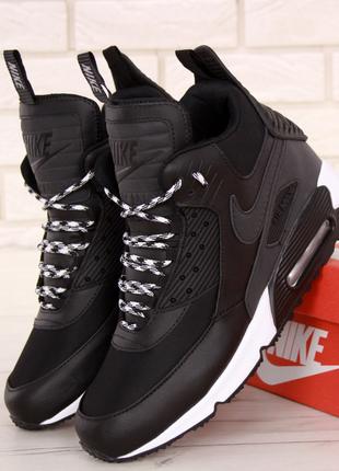 Демисезонные мужские кроссовки nike air max 90 sneakerboot (41...