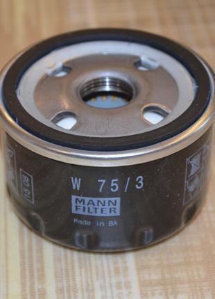 Фильтр масляный MANN-FILTER W75/3, 7700274177, 8200768913