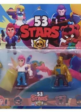 Детский набор героев 53 Brawl Stars  из 6 фигурок