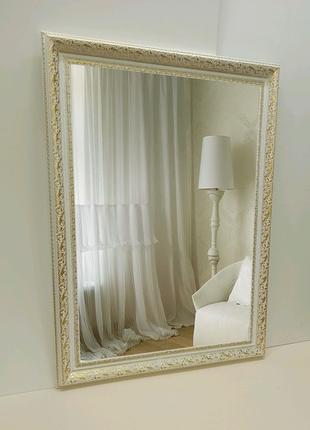 Зеркало в классической белой раме