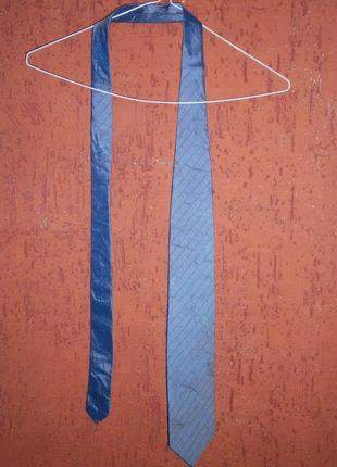Классный галстук полоска хуго босс шелк hugo boss
