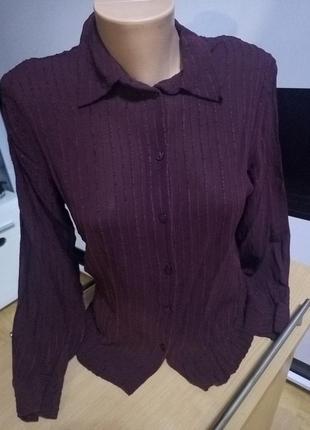 Красивая блуза ,цвет марсала.