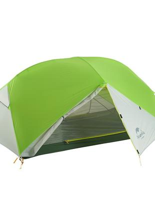 Двухместная палатка Naturehke Mongar 20D Green/Grey Silicone нейл