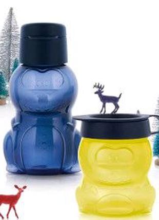 Детский набор Эко Бутылочка  и Закусочный  стаканчик. Tupperware