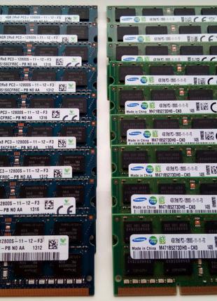 SO-DIMM DDR3 4Gb PC3-10600/12800 (1333/1600MHz) Intel/AMD ноутбук