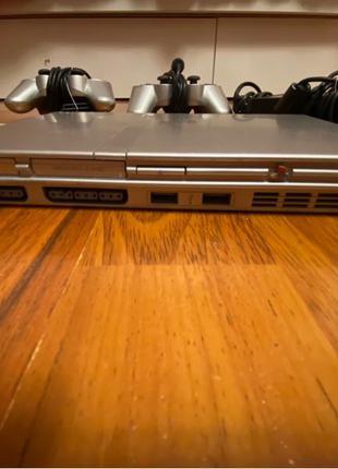Игровая приставка Sony PlayStation 2 slim и 24 диска с играми