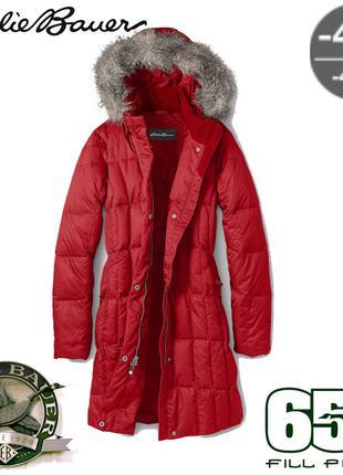 Легкое зимнее пуховое пальто пуховик парка Eddie Bauer FP650 -40C