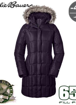 Легкое зимнее пуховое пальто пуховик парка Eddie Bauer FP650 -40