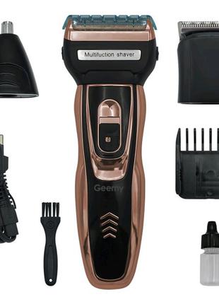 Электробритва сеточная и триммер для бороды GEMEI/Geemy GM-595 с