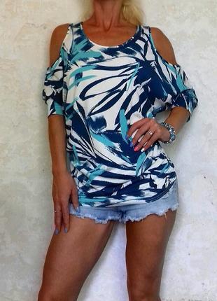 Блузка модная с открытыми плечами вискоза