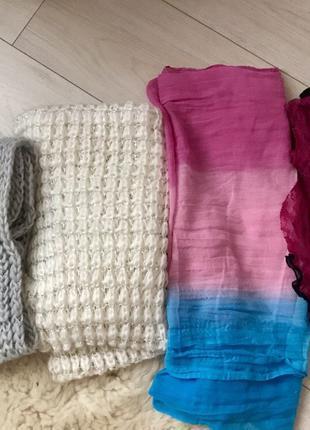 Зимний шарф. Женский шарф. Шарф-хомут. Женская косынка. Вязаны...