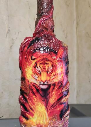 Оформление подарочных бутылок сувениры подарки декор декупаж