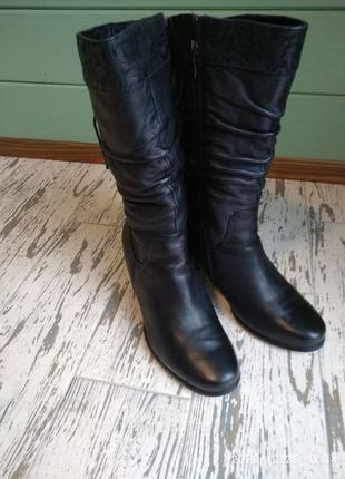 Сапоги зимние натуральная кожа, цигейка, чоботи зимові, 41 р.