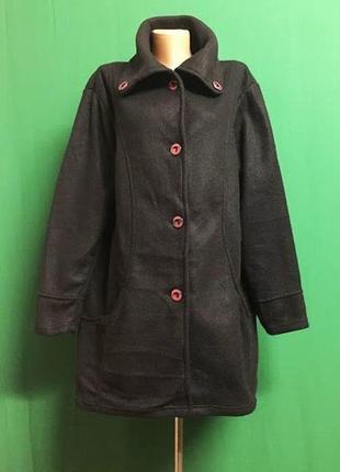 Длинная флисовая кофта с карманами (xl/xxl)