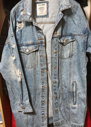 Джинсова куртка жіноча. Pull&Bear. L