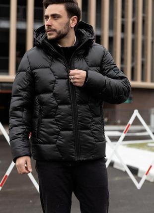 Мужская зимняя куртка пуховик черный