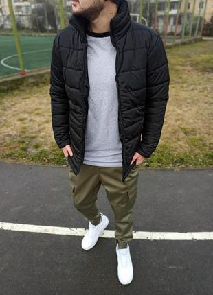 Крутая мужская зимняя куртка без капюшона
