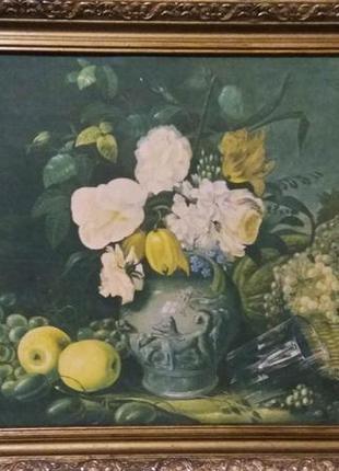 """Картина Хрусткий """"Цветы и фрукты"""""""