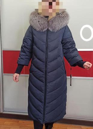 🌺 роскошный длинный зимний пуховик 🌺 пуховое пальто люкс basic...