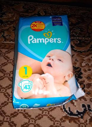 Pampers 1 43шт