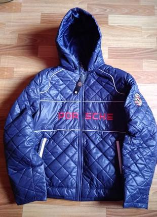 Демисезонная мужская куртка в спортивном стиле оверсайз