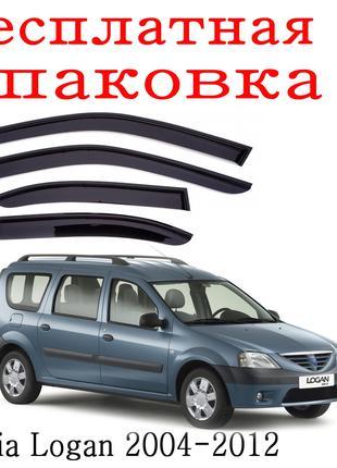 Дефлекторы окон Dacia Logan MCV 2004 - 2012 ветровики