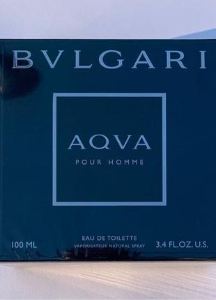 100ml BVLGARI Aqva Pour Homme Eau de Toilette 3.3 OZ New OVP