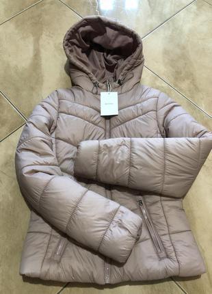 Куртка тёплая пастельный розовый bershka