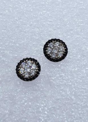 Серебряные серьги гвоздики 925 проба