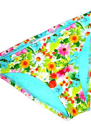 Плавки для девочки 7 лет цветы (сост. новое)