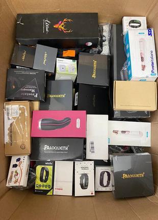 Amazon коробки мікс палети , піддони з технікою , сток товари