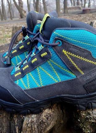 Красивые, качественные,трекинговые, термо ботинки, salomon, ор...