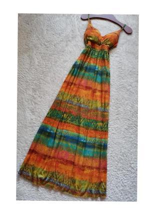 Винтажный сарафан длинный платье длинное