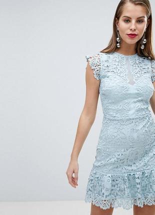 Роскошное дорогое ажурное платье lipsy