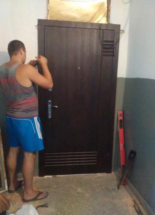 Металлические входные двери и услуги по их установке в Днепре