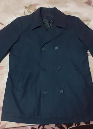 Next пальто черное шерстяное l